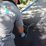 modified bitumen flat roof repair