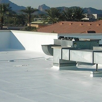 Flat Roof Repair with seamless rubber membrane