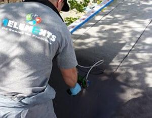modified bitumen flat roof repair